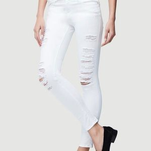 White ripped Frame jeans